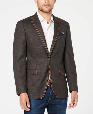 Tallia Men's Slim-Fit Brown Textured Sport Coat