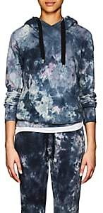 NSF Women's Lisse Tie-Dyed Cotton Hoodie-Blue