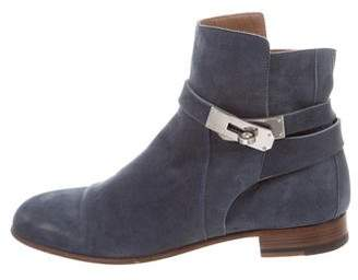 Hermès Leather Round-Toe Ankle Boots