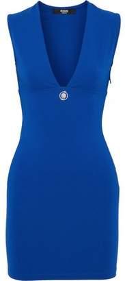 Versace Embellished Ponte Mini Dress