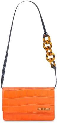 Jacquemus Le Sac Riviera Croc Embossed Leather Bag