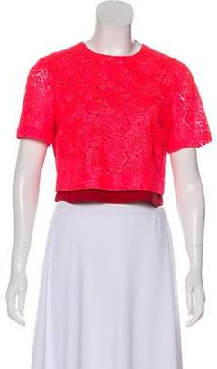 A.L.C. Lace Short Sleeve Top