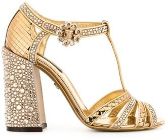 Dolce & Gabbana rhinestone-embellished T-strap sandals
