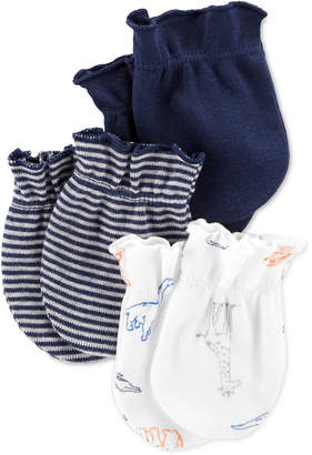 Carter's Baby Boys 3-Pack Cotton Mittens