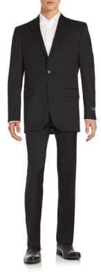Saks Fifth Avenue Wool Two-Button Front Suit