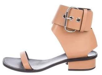 Celine Leather Low-Heel Sandals