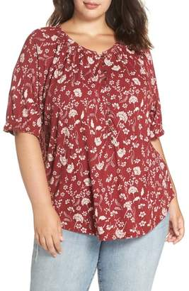 Lucky Brand Floral Henley Top