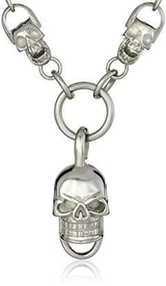 Cold Steel Men's Skull Necklace
