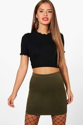 boohoo Petite Brandy Scuba Mini Skirt