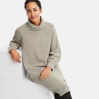 Uniqlo Women's Premium Lambswool Turtleneck Long-sleeve Dress