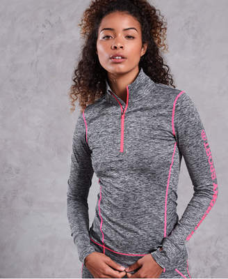 Superdry Performance Reflective Half Zip Top