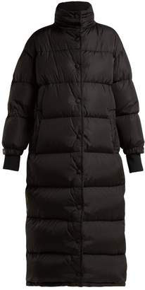 Long Quilted Down Coat - Womens - Black
