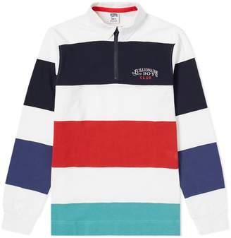 Billionaire Boys Club Long Sleeve Stripe Zip Rugby Shirt