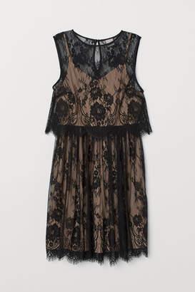 H&M Sleeveless Lace Dress - Black