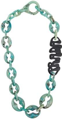 Prada plexiglass logo necklace