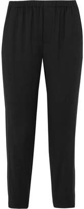 Vince Stretch-crepe Slim-leg Pants - Black