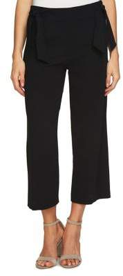 CeCe Moss Crepe Straight-Leg Pants