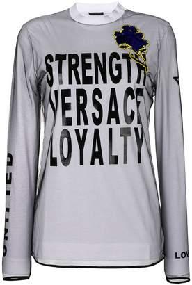 Versace long-sleeved printed top