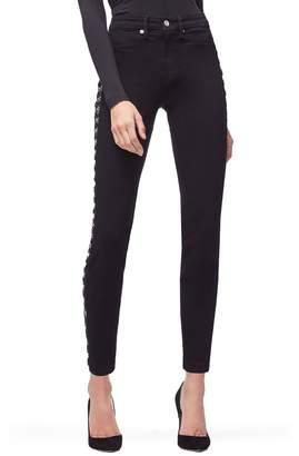 Good American Good Waist Hook & Eye Detail Ankle Skinny Jeans