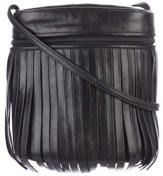 Carlos Falchi Fringe Leather Crossbody Bag