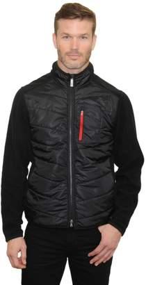 Mountain And Isles Men's Mountain and Isles Camo Mixed Media Hybrid Fleece Jacket