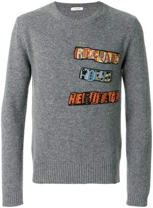 Valentino Jamie Reid patch appliqué sweater