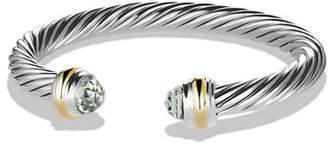 David Yurman Cable Classic Bracelet w/ Stone Ends