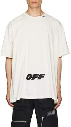 Off-White Men's Logo Cotton Oversized T-Shirt
