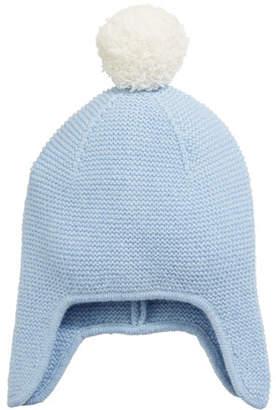 Sofia Cashmere Texture Knit Cashmere Baby Trapper Hat 25c6575c0fc