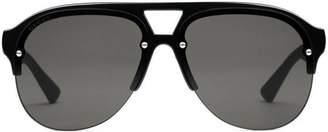 Gucci Aviator rubber sunglasses