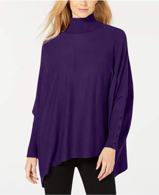 Alfani Turtleneck Poncho Sweater