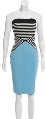 L'Agence Colorblock Mini Dress