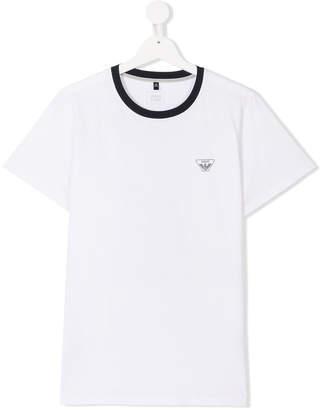 Armani Junior TEEN contrast-collar T-shirt