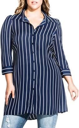 City Chic Perfect Stripe Tunic Top