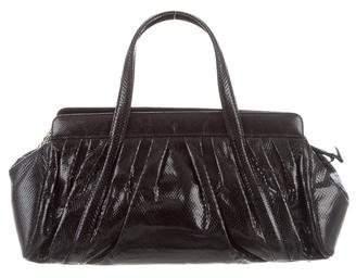 Judith Leiber Embossed Leather Satchel