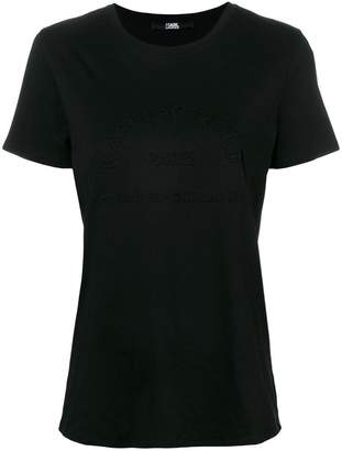 Karl Lagerfeld address motif T-shirt