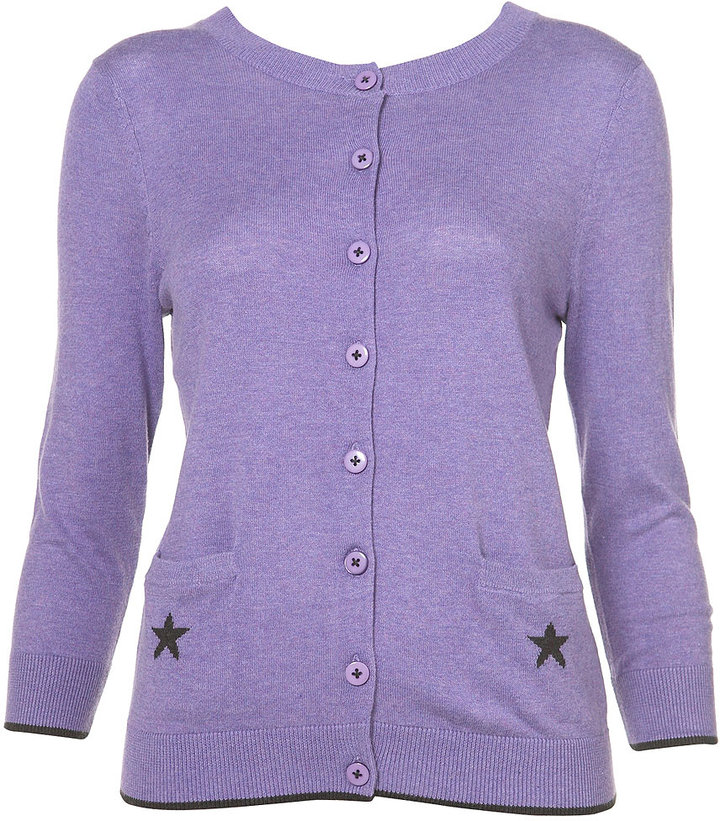 Knitted Short Star Cardigan