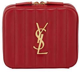 Saint Laurent Vicky Horizontal Quilted Belt Bag