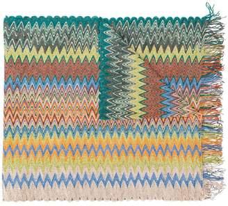Missoni fringed zigzag scarf