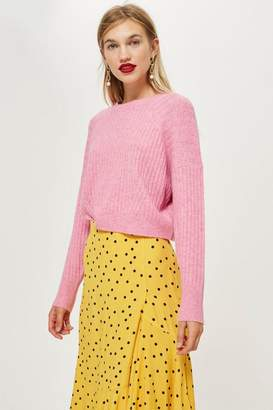 Topshop PETITE Striped Cropped Jumper