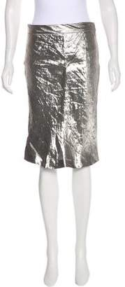 Narciso Rodriguez Metallic Pencil Skirt w/ Tags