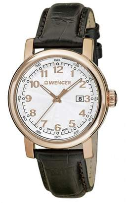 Wenger Women's Hodinky Brown Leather Band Case Quartz Watch 01.1021.114