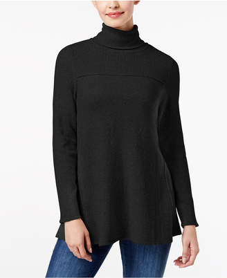 Style&Co. Style & Co Exposed-Seam Turtleneck Tunic