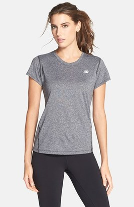 Women's New Balance Heathered Short Sleeve Tee $25 thestylecure.com