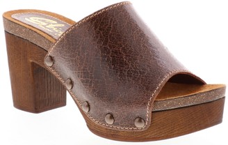 Sbicca Leather Slide Mule Sandals - Arianne