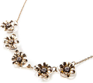 Oasis CLEAR RESIN FLORAL NECKLACE