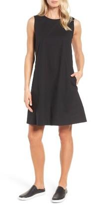 Women's Eileen Fisher Stretch Organic Cotton Shift Dress $198 thestylecure.com
