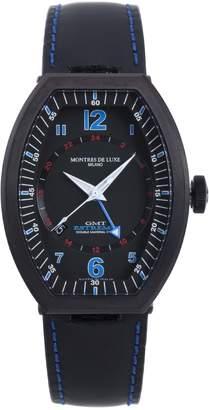 Montres de Luxe Men's EXN 9501 Estremo Titanium and Aluminum Luminous Leather Date Watch