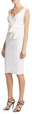 Chiara Boni Bow Faux Wrap Dress