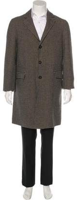 Massimo Alba Wool Houndstooth Overcoat w/ Tags